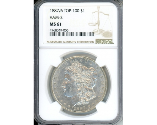 PMJ Coins 1887/6 $1 NGC MS61